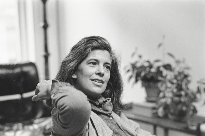 Susan Sontag in the early 1980s from HBO's REGARDING SUSAN SONTAG,  directed by Nancy Kates. Photographer: Dominique Nabokov. Courtesy of HBO HBO Documentary Films.