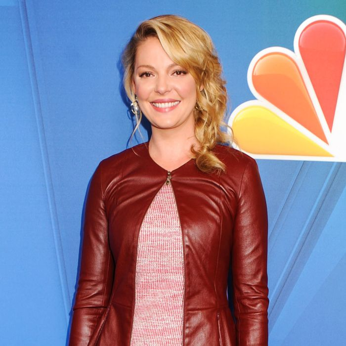 12 May 2014, New York City, New York State, USA --- NEW YORK CITY, NY, USA - MAY 12: 2014 NBC Upfront Presentation held at the Jacob K. Javits Convention Center on May 12, 2014 in New York City, New York, United States. (Photo by Celebrity Monitor) Pictured: Katherine Heigl --- Image by ? Celebrity Monitor/Splash News/Corbis