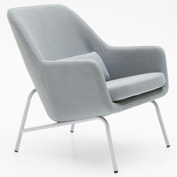MoDRN Sandpiper Upholstered Lounge Chair, Seaglass Aqua