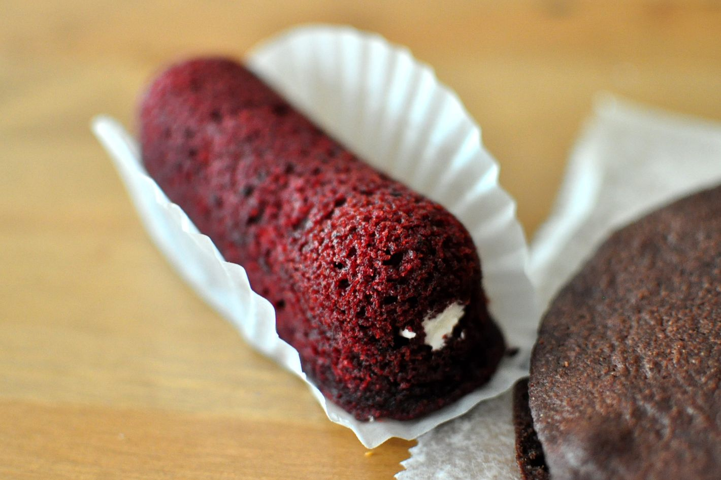 Blot your tears with Plenty's gussied-up red velvet Twinkies.