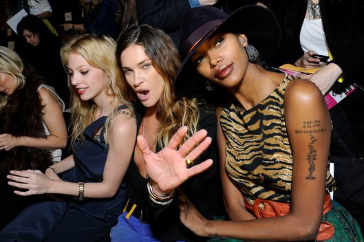 Cory Kennedy, Erin Wasson, and Jessica White attend the BCBG Max Azria Fall 2012 fashion show