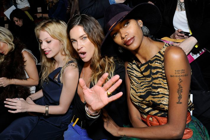 Cory Kennedy, Erin Wasson, and Jessica White attend the BCBG Max Azria Fall 2012 fashion show during Mercedes-Benz Fashion Week at the The Theatre at Lincoln Center on February 9, 2012 in New York City.