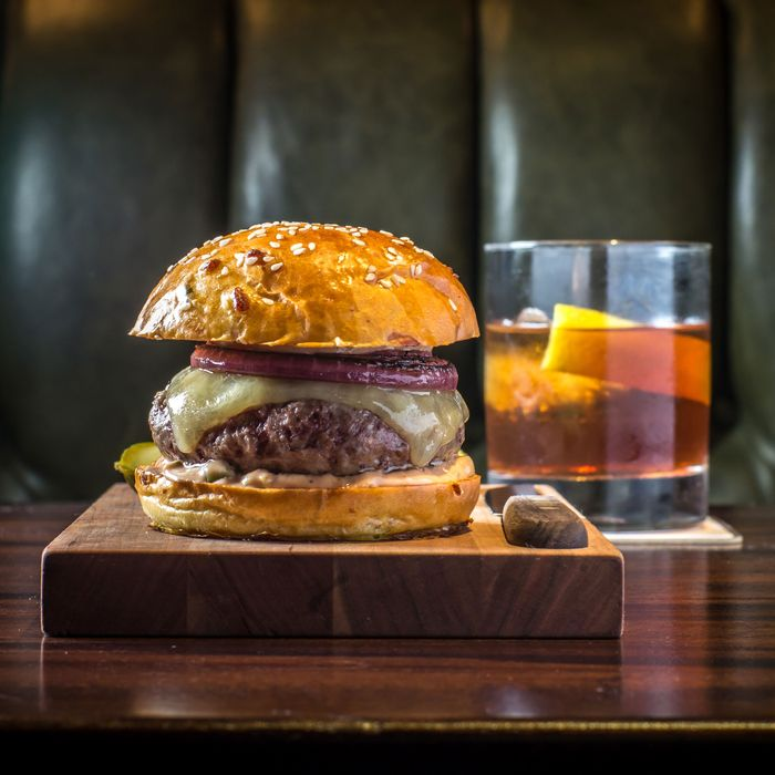 The NoMad Bar's truly excellent cheeseburger.