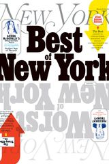 Cover of New York Magazine's Best of New York issue