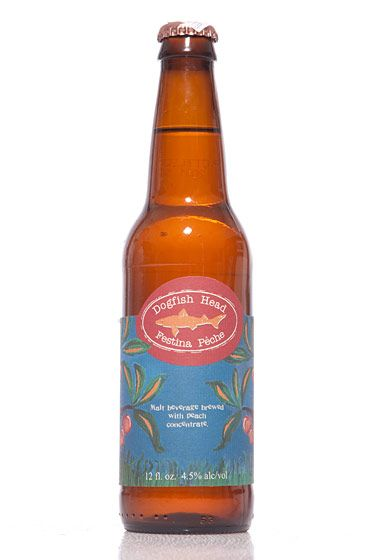 "Dogfish Head (Delaware)<br>$10.79 for four-pack<br><strong>Type:</strong> Berliner Weissbier<br><strong>Tasting notes:</strong> ""An unusual flavor; tart and refreshing, with lots of fermented peaches.""<br>—Richard and John Zawisny, owners, Eagle Provisions"