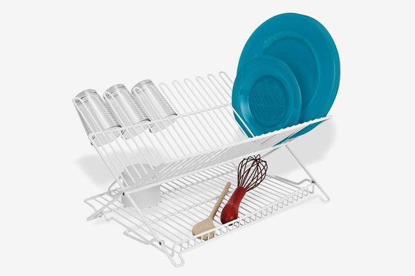 Better Housewares Folding Dish Rack in White