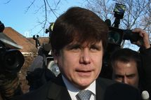 Former Illinois Governor Rod Blagojevich leaves his home to go to his sentencing hearing December 7, 2011 in Chicago, Illinois. Federal prosecutors are seeking a sentence of 15 to 20 years in prison for Blagojevich after he was found guilty of 17 public corruption charges.