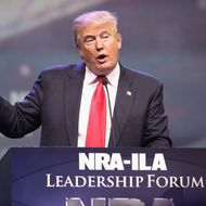 Donald Trump speaks at the National Rifle Association's NRA-ILA Leadership Forum