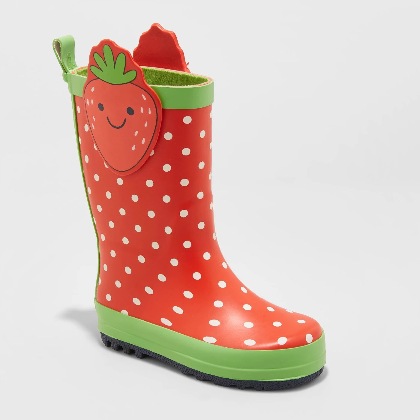 5ce5d19ff3fc67 Cat and Jack Maddison Strawberry Rain Boots