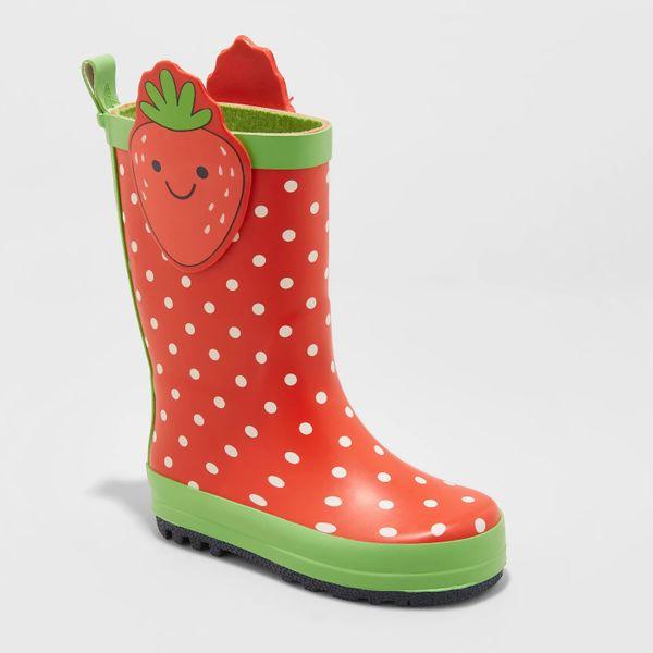 Cat and Jack Maddison Strawberry Rain Boots