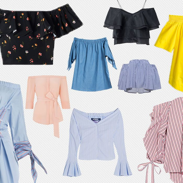 b4d4a5387d19e7 Baring Your Shoulders the Chic Way  13 Summertime Tops. By Indya Brown.  Everyone this season seems to be pushing down their sleeves in favor of an  ...