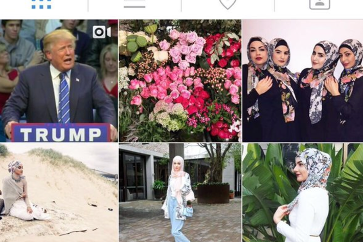 Hacked. Jennine Khalik/Twitter; Hijab House/Instagram