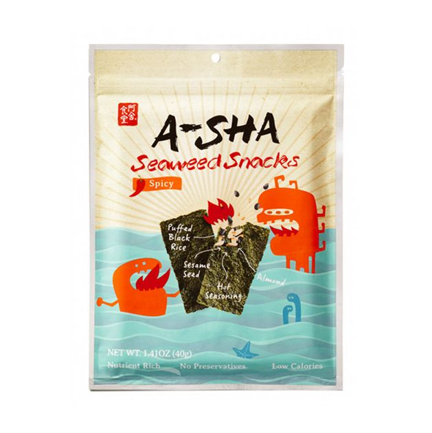 A-Sha Seaweed Snacks Spicy