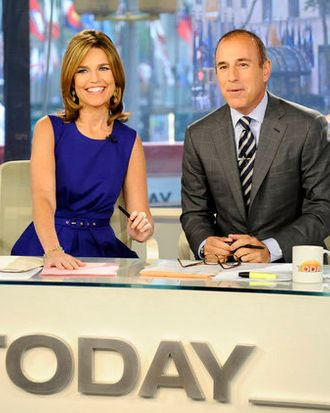 TODAY -- Pictured: (l-r) Savannah Guthrie, Matt Lauer --