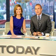 "TODAY -- Pictured: (l-r) Savannah Guthrie, Matt Lauer -- ""Today"" show co-hosts Savannah Guthrie and Matt Lauer appear on the ""Today"" show ."