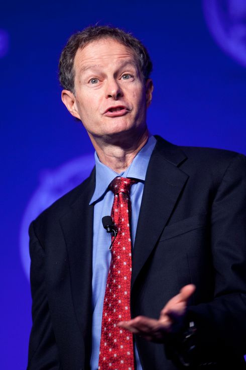 John Mackey, chief executive officer of Whole Foods Market Inc., speaks during a panel discussion at the World Health Care Congress in Washington, D.C., U.S., on Wednesday, April 6, 2011. The 8th Annual WHCC is World Congress' flagship event in which over 1,800 health care, government and corporate leaders formulate solutions to the challenges of health care cost, quality and delivery.