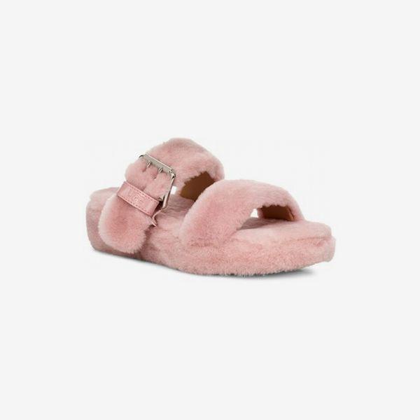 Ugg Fuzz Yeah Genuine Shearling Slipper Sandal