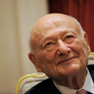 Former New York City Mayor Ed Koch attends the celebration of his 85th Birthday at the Bryan Cave LLP Celebration at the St. Regis Hotel on November 18, 2009 in New York City.