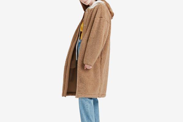 Uniqlo Pile-Lined Fleece Collarless Coat