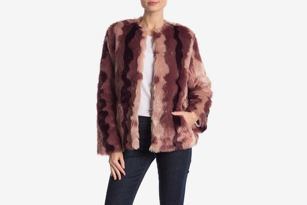Sam Edelman Ombre Short Chubby Faux Fur Jacket