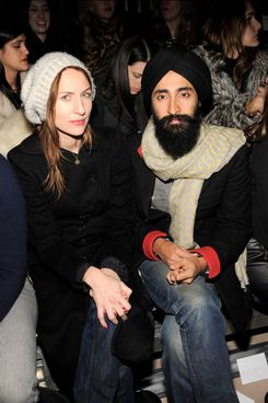 ?, Waris Ahluwalia==         CYNTHIA ROWLEY 2012 Fashion Show==         IAC Building, NYC==         February 9, 2012==         ©Patrick McMullan==         Photo - CLINT SPAULDING/PatrickMcMullan.com==