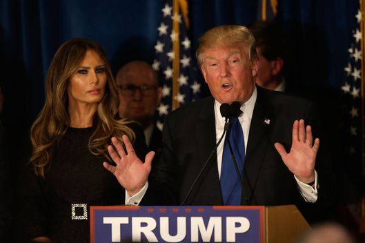 Donald Trump Holds New Hampshire Primary Night Gathering In Manchester