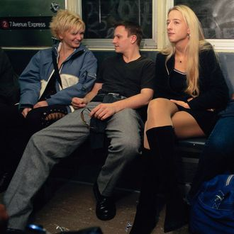 People Riding New York City Subway
