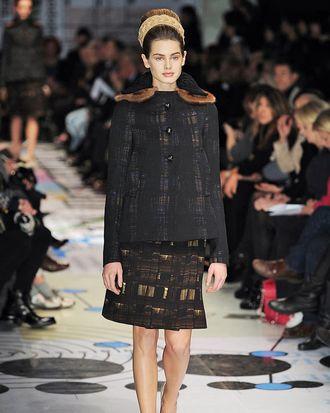 Hessler in the fall 2010 Prada show.