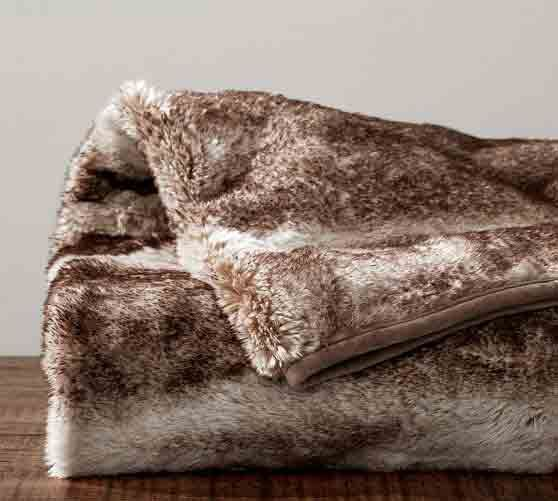 Faux Fur Oversized Throw