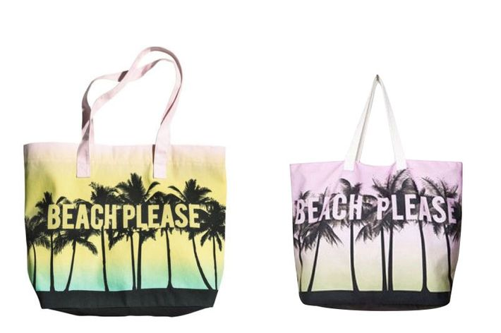 The side-by-side tote bags.