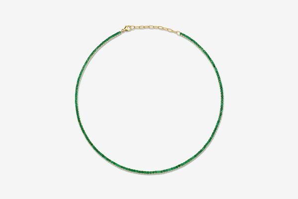 The Last Line Perfect Emerald Collar Tennis Necklace