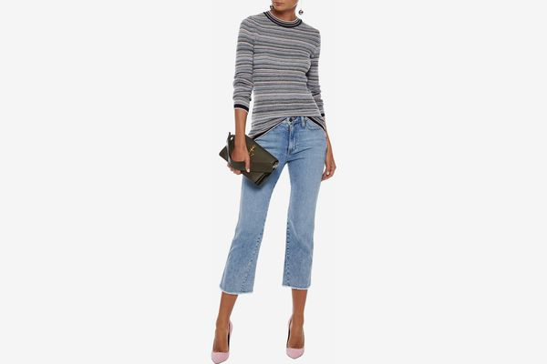 Alice + Olivia Perfect Cropped Mid-Rise Bootcut Jeans