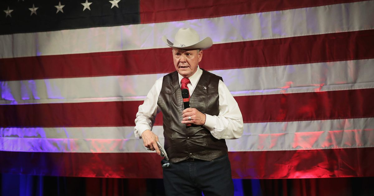Poll Shows Roy Moore Is Still the Wacko to Beat in Alabama