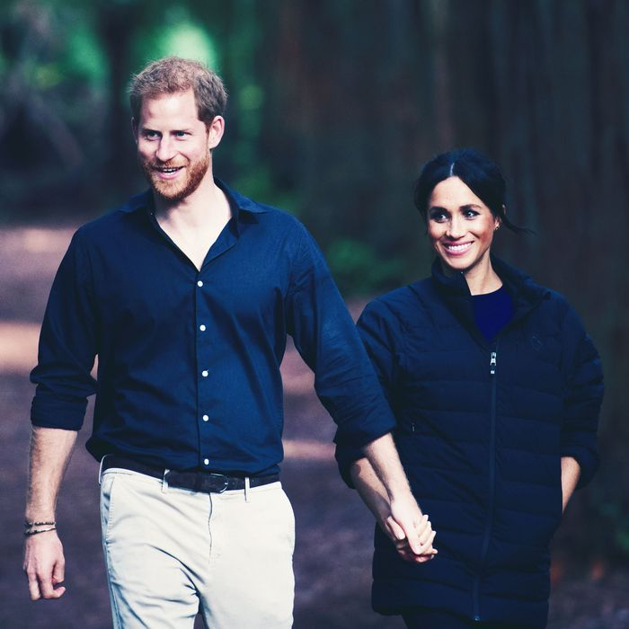 Meghan and Harry in a bucolic setting.