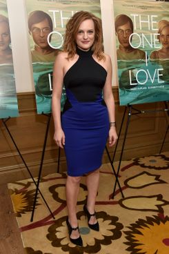 """NEW YORK, NY - AUGUST 05:  Actor Elisabeth Moss attends """"The One I Love"""" New York Screening at the Crosby Street Theater on August 5, 2014 in New York City.  (Photo by Dimitrios Kambouris/Getty Images)"""