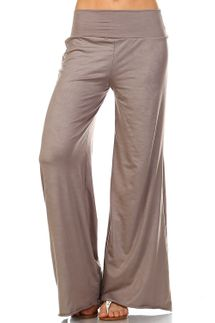 Simplicitie Wide Leg Palazzo Pants, Grey