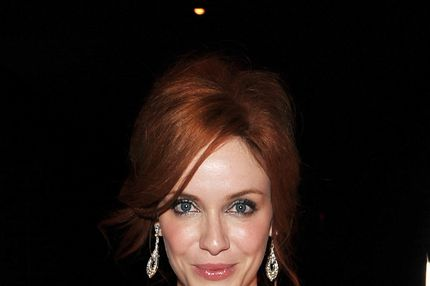 "NEW YORK, NY - SEPTEMBER 12:  Christina Hendricks attends the premiere of The Weinstein Company's ""I Don't Know How She Does It"" after party sponsored by QVC & Palladium Jewelry at Hudson Hotel on September 12, 2011 in New York City.  (Photo by Stephen Lovekin/Getty Images for The Weinstein Company)"
