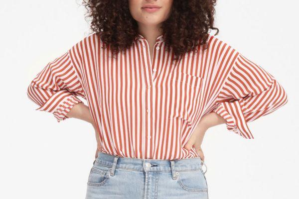 The Clean Silk Oversized Shirt