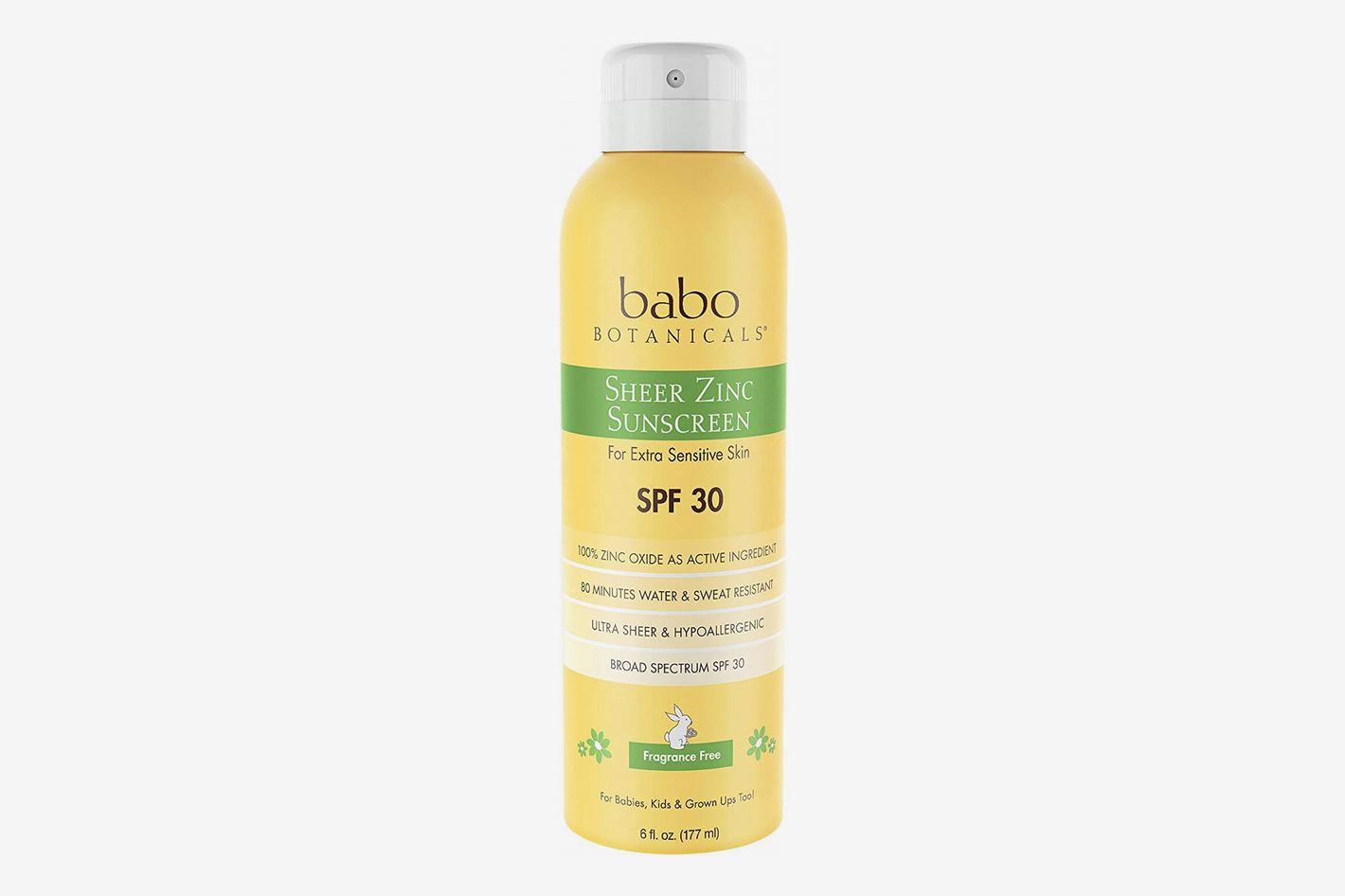 Babo Botanicals Sheer Zinc Continuous Spray Sunscreen SPF 30
