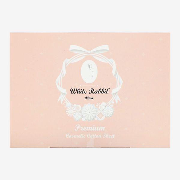 White Rabbit, Premium Cosmetic Cotton Sheet, Plain, 200 Sheets