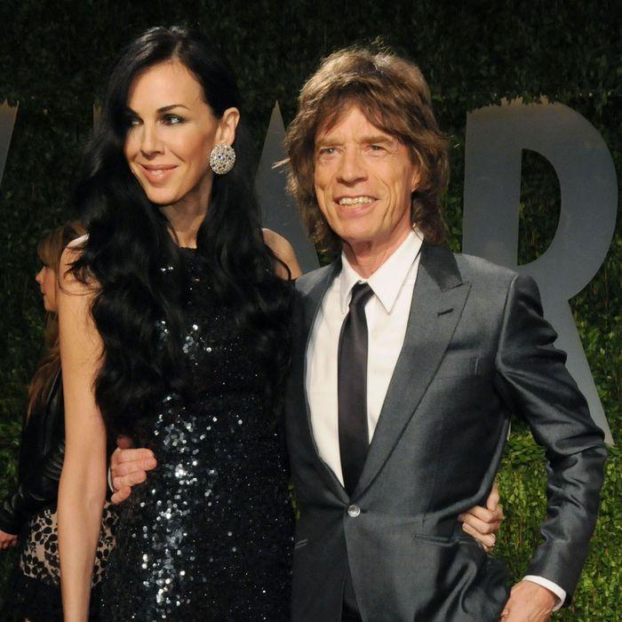 L'Wren Scott and Mick Jagger.