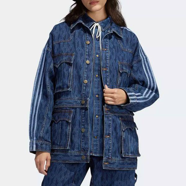 Adidas x Ivy Park Monogram Denim Jacket