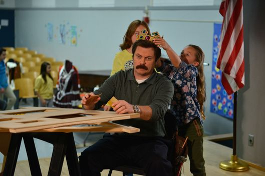 "PARKS AND RECREATION -- ""One In 8,000"" Episode 620 -- Pictured: Nick Offerman as Ron Swanson -- (Photo by: Colleen Hayes/NBC)"