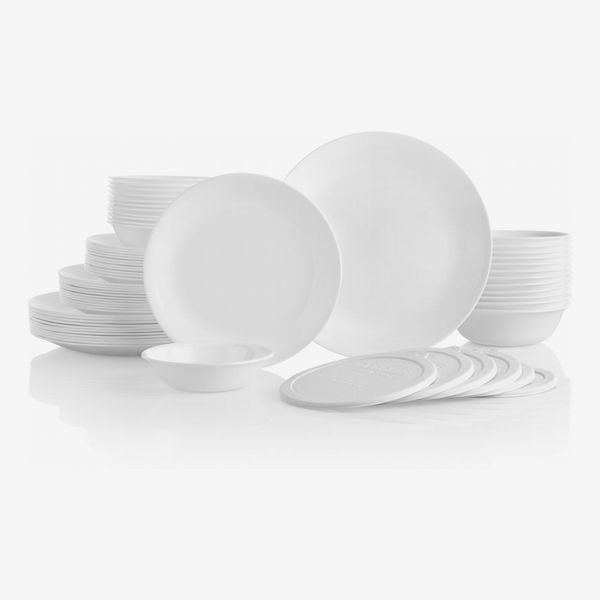 Corelle Livingware Winter Frost White 66-piece Set
