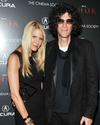NEW YORK, NY - APRIL 28: Beth Ostrosky Stern and Howard Stern attend the Cinema Society & Acura screening Of