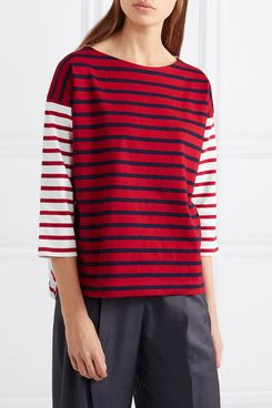 J.Crew striped cotton top