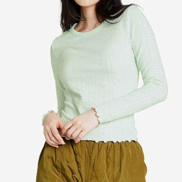 Sandy Liang x Target Women's Crewneck Eyelet Pointelle Pullover Sweater