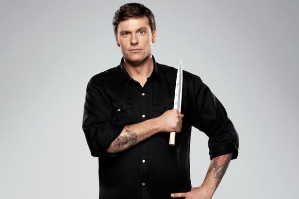 With one swift pull of the knife, Chuck Hughes accidentally cut off his own arm.