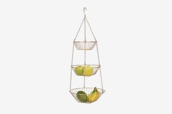 RSVP 3-Tier Hanging Wire Basket