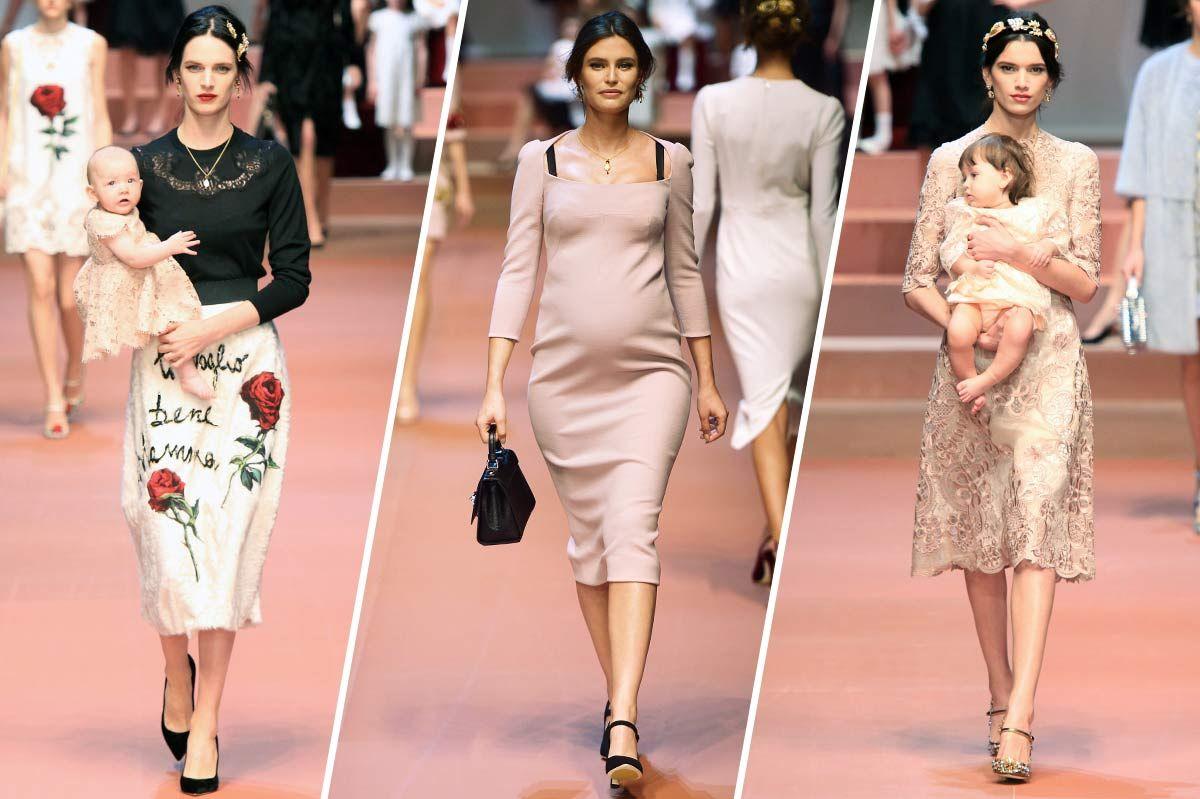 6accc61f10 Dolce & Gabbana Celebrates Moms on the Runway